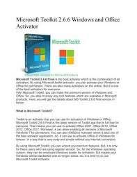 Microsoft Toolkit 2 6 7 Crack With License Key Free Download